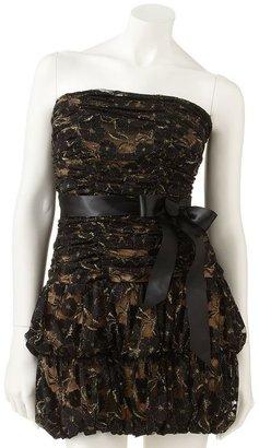 My Michelle lace strapless dress - juniors