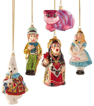 Gump's Lewis Carroll Alice In Wonderland Ornament Collection
