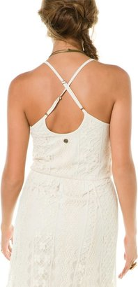 Billabong Cleverness Crochet Maxi Tank Dress