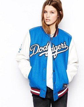 Majestic Dodgers Baseball Jacket - Blue