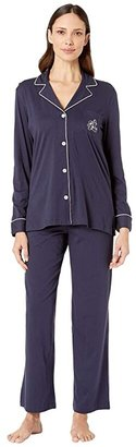 Lauren Ralph Lauren Hammond Knits Pajama Set (Navy) Women's Pajama Sets