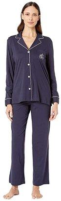 Lauren Ralph Lauren Hammond Knits Pajama Set (Heather Grey) Women's Pajama Sets