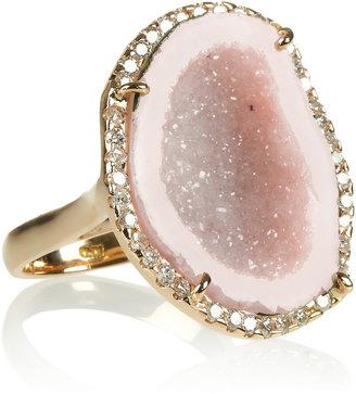 Kimberly McDonald 18-karat rose gold, geode and diamond ring