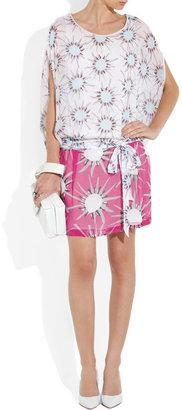 Diane von Furstenberg Robyn sunshine-print silk-chiffon mini dress