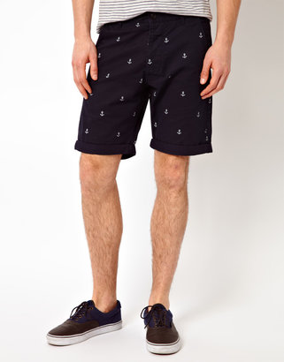Jack and Jones Shorts With Anchor Print