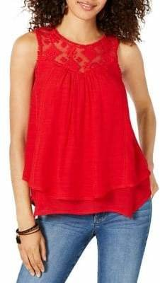 Style&Co. Style & Co. Lace Sleeveless Top