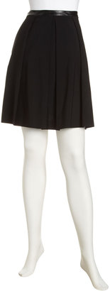 Elizabeth and James Gabardine Pleated Skirt