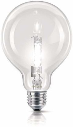 Philips EcoClassic Globe lamp Halogen globe bulb - halogen bulbs (E27, Clear, Clear, Hg (mercury))