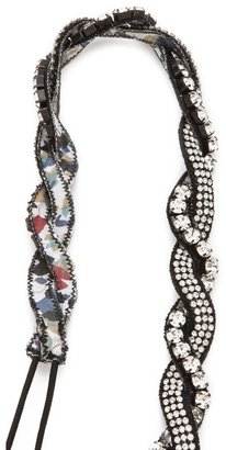 Deepa Gurnani Small Braided Crystal Headband