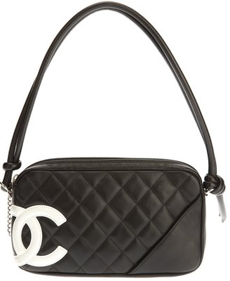 Chanel quilted logo pouchette