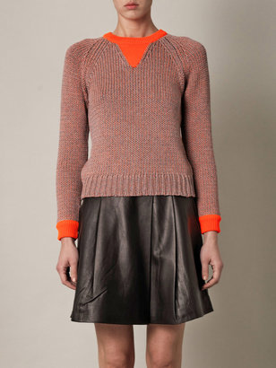 Marc by Marc Jacobs Candace neon-trim sweater