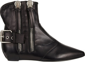 Giuseppe Zanotti Double Side-Zip Hidden Wedge Ankle Boot