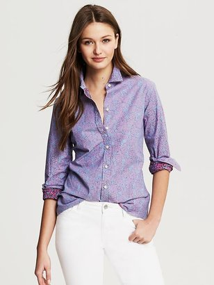 Banana Republic Floral Chambray Shirt