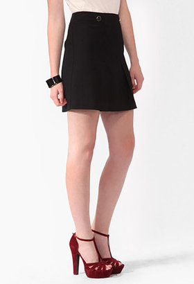 Forever 21 Pleated A-Line Skirt