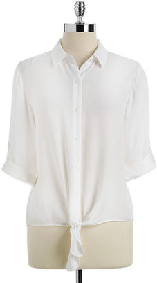 Collective Concepts Long-Sleeve Tie-Front Blouse