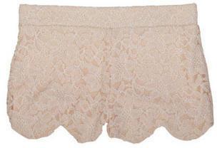 Delia's Cream Allover Lace Short