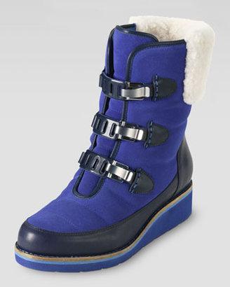 Cole Haan Lania Weatherproof Suede Boot, Blue