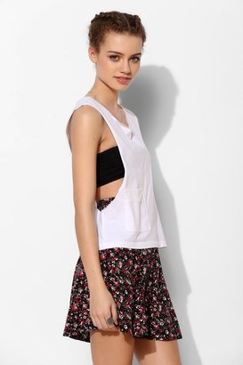 Urban Outfitters First Base Mesh Cropped Muscle Tee