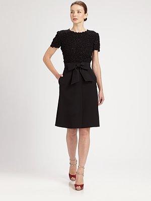 Valentino Lace Bodice Dress