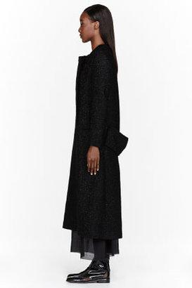 Yang Li Black Tailored Sparkling Long Coat