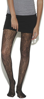 Wet Seal Large Floral Tights