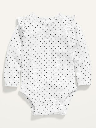 Old Navy Printed Long-Sleeve Plush-Knit Bodysuit for Baby