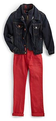 Scotch Shrunk Boy's Denim Trucker & Quilted Jacket