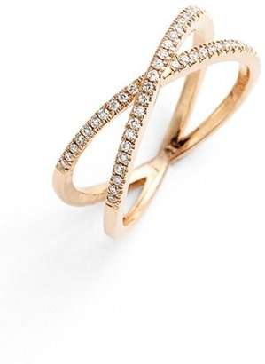 Women's Bony Levy Stackable Crossover Diamond Ring (Nordstrom Exclusive) $1,095 thestylecure.com