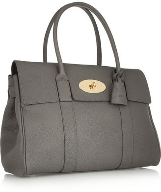 Mulberry The Bayswater textured-leather bag