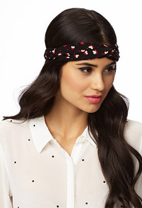 Forever 21 Knotted Polka Dot Headwrap