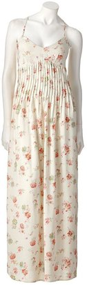 Lauren Conrad floral pintuck maxi dress