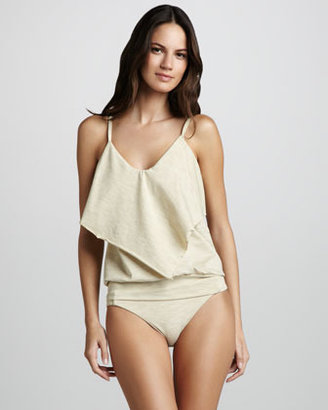 Luxe by Lisa Vogel Opening Night Flutter-Panel Tankini Top