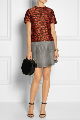 Thakoon Flared leather skirt