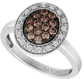LeVian Diamond Ring in 14 Kt. Vanilla Gold