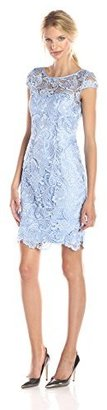 Adrianna Papell Women's Cap Sleeve Lace Dress $99.58 thestylecure.com
