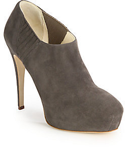 Brian Atwood Nolita Suede Platform Ankle Boots