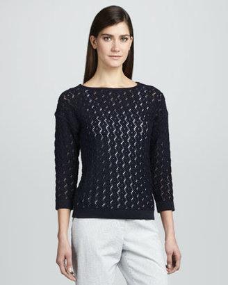 Magaschoni Seaside Stitches Knit Sweater