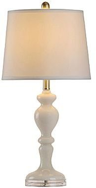 JCPenney Glass/Acrylic Table Lamp
