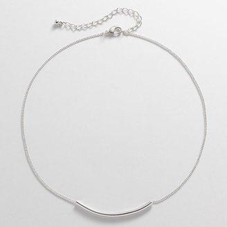 Lauren Conrad silver tone slide pendant
