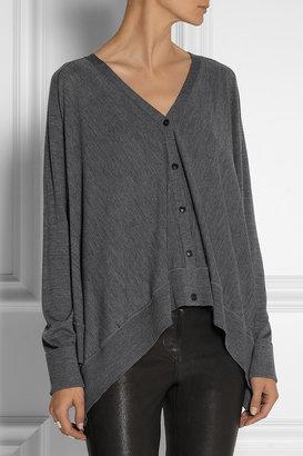Alexander Wang Oversized fine-knit wool cardigan