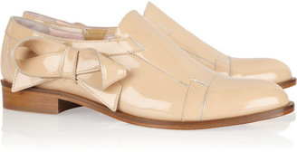 RED Valentino Bow-embellished patent-leather loafers