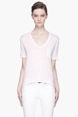 Alexander Wang Pale lilac scoopneck pocket t-shirt