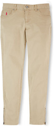 Ralph Lauren Girls 7-16 Chino Pants