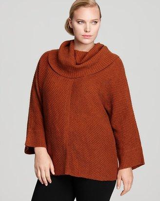 Eileen Fisher Plus Deep Cowl Neck Dolman Sleeve Sweater