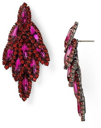 Elizabeth Cole Bacall Swarovski Crystal Earrings