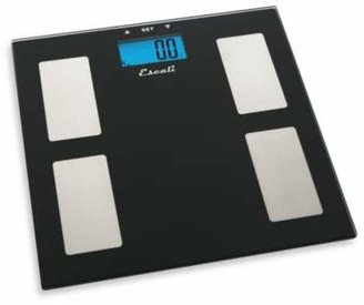 Escali Glass Body Fat, Water, Muscle Mass Bathroom Scale
