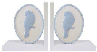 Bella Blue Songbird Bookends