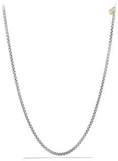 David Yurman Medium Box Chain with Gold $295 thestylecure.com