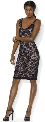Lauren Ralph Lauren Dress, Sleeveless Sequin Lace