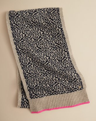 Juicy Couture Girls' Snow Leopard Scarf